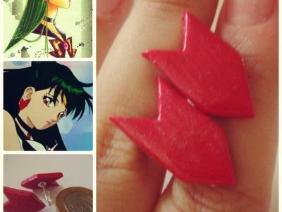 Sailor Plutão brincos. Pluto earrings stud polymer clay
