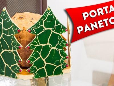 Artesanato de Natal - Porta Panetone Craquelado - Faça Você Mesmo Diy