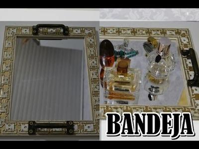 DIY: Bandeja Espelhada feita com moldura de quadro