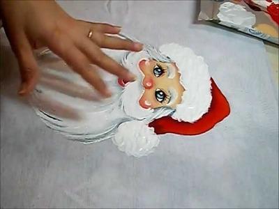 PINTURA EM TECIDO - Acabamentos do Papai Noel