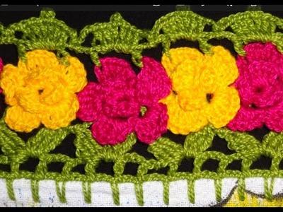 Barrado em crochê de flores - CROCHÊ 14