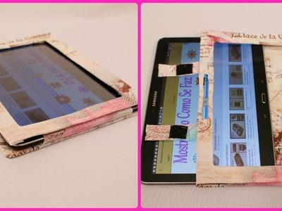 Capinha para Tablet  com  caixa de cereais. Muito fácil e barato :)
