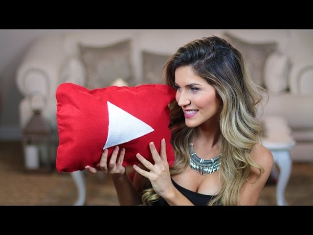 DIY: Almofada Play do Youtube! -  Faça você mesmo