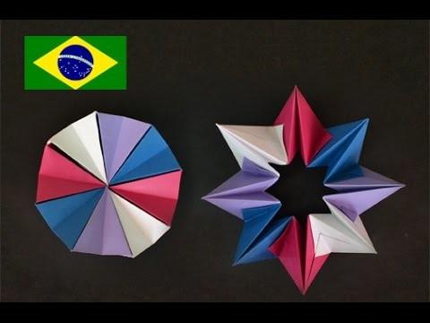 Origami: Círculo Mágico - Tutorial com voz PT BR