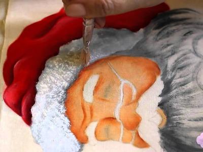 Pintura em tecido - Eliane Nascimento Gorro do papai noel