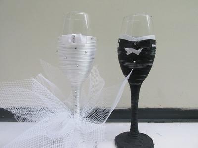 Taças Personalizadas (Noiva) . Faça você mesma