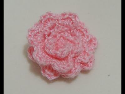 Flores de crochê - Flor de crochê Básica Modelo 3 (Canhotas)
