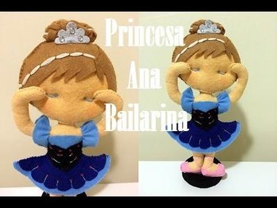 Princesa Bailarina Ana em feltro