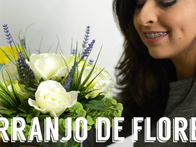 Como montar um arranjo de flores artificiais - DIY