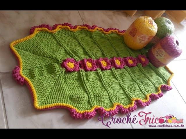 Crochê - Tapete Primavera com Maxcolor