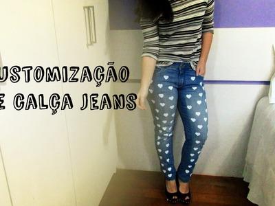 Customização de calça jeans | Jaque Magnus