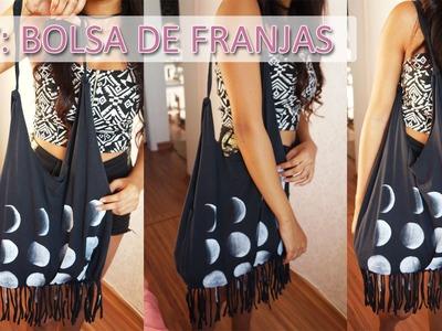 DIY: Bolsa de franjas com camiseta
