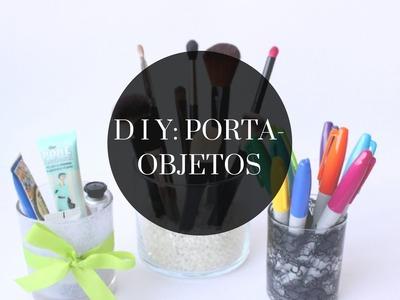 DIY | Porta-objetos reutilizando potes de vela