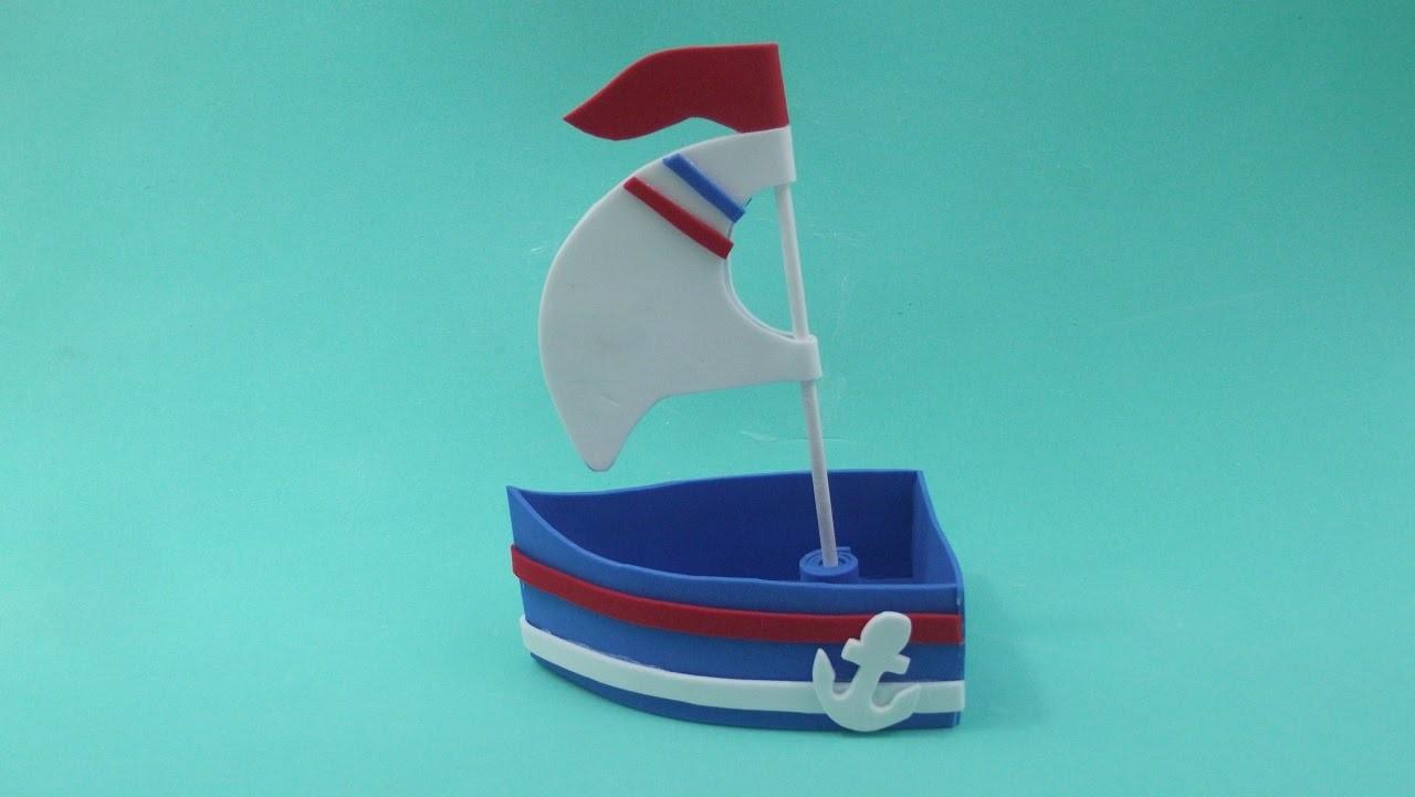 Faça você mesma: barco 3D em eva