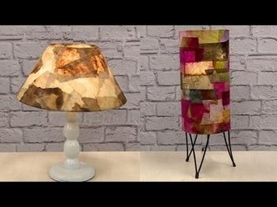 Luminária e Cúpula com Filtros de Café - Rosely Ferraiol