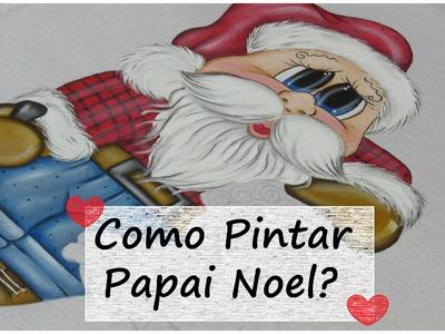 Pintura em tecido - Como Pintar Papai Noel Super Fácil - Noel e Biel - Parte 3