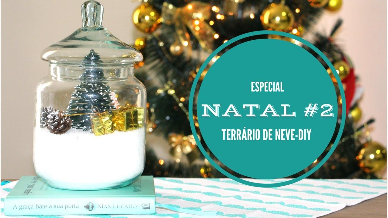 ESPECIAL NATAL #2 Terrário de Neve DIY - Nanny Ribeiro