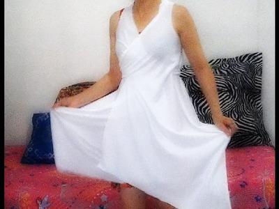 Como fazer um lindo vestido em dois minutos e sem costura