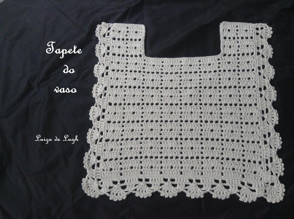 Jogo de Banheiro Crochê  Tapete do vaso #LuizadeLugh, My Crafts and DIY Proj -> Tapete Para Banheiro Croche Simples