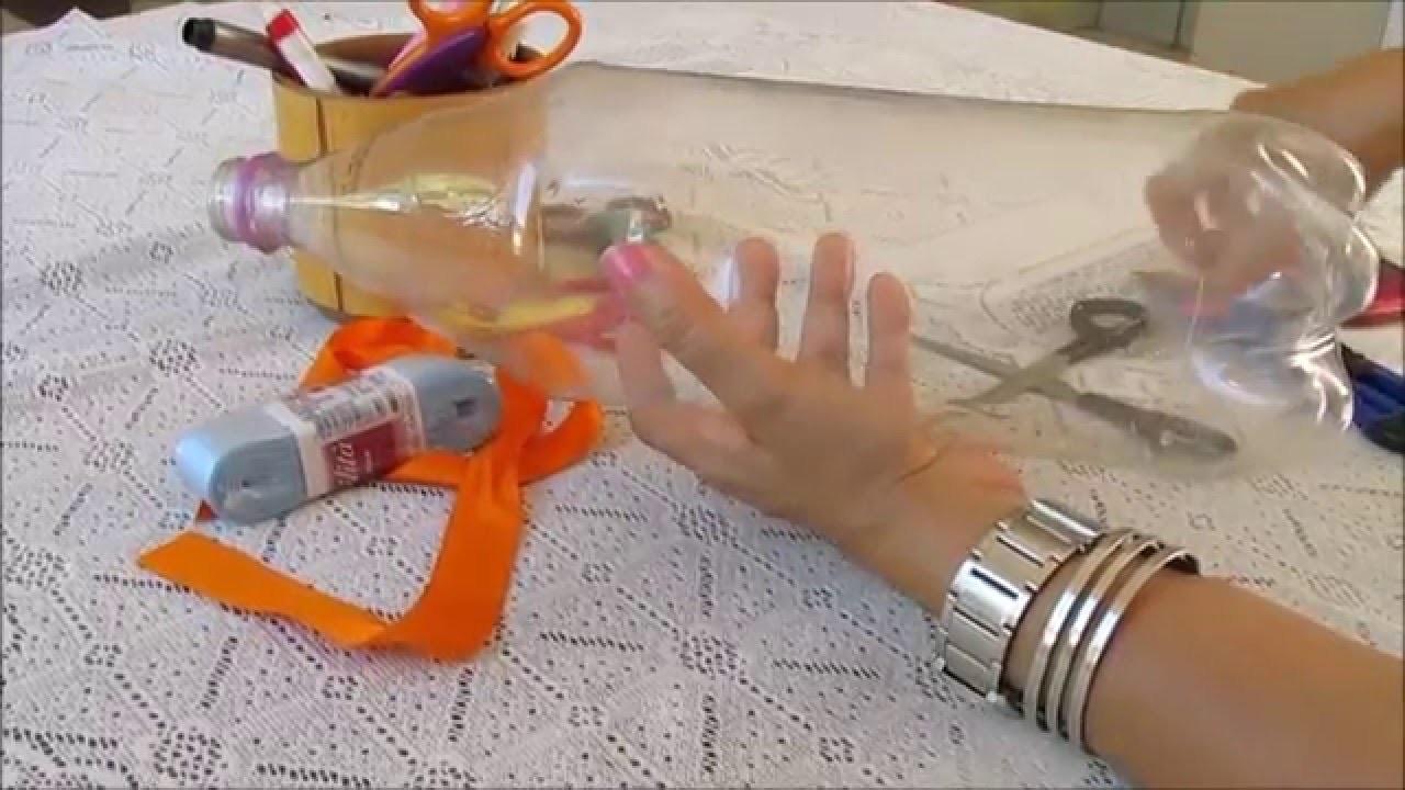 Lembrancinhas com caixinha de garrafa pet