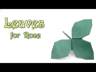 Origami Leaves for Rose Kawasaki - Yakomoga Origami tutorial