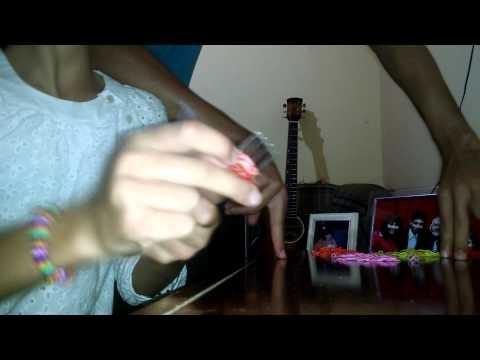 Como fazer pulseira Rainbow Loom - Hexafish