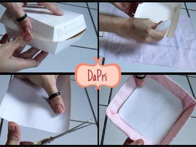 DaPri | DIY - Pratinho de Tecido (com Caixa de Hambúrguer)