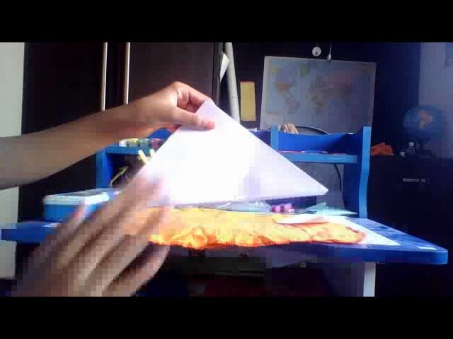 Origami paper pouch