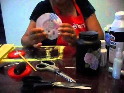 Artesanato e reciclagem - Transforme um pote de vidro em arte!