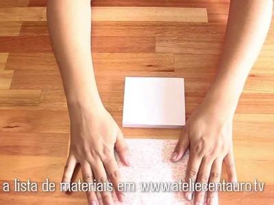 Bloquinho encapado - Artesanato - Ateliê Centauro - Artesã Claudia Delfino