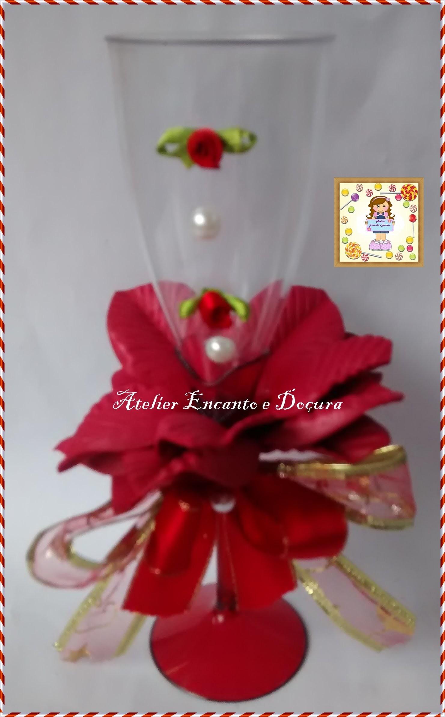 DIY Como decorar uma taça com flores de E.V.A?