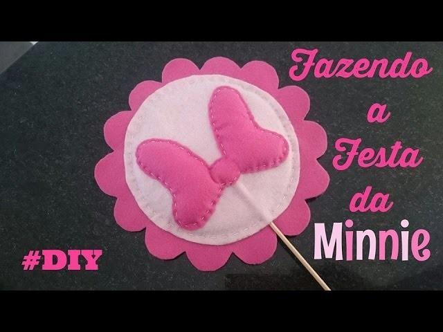#DIY Tema Minnie - FELTRO fazendo a decoração da festa #DICA de decoração de quarto tbm.
