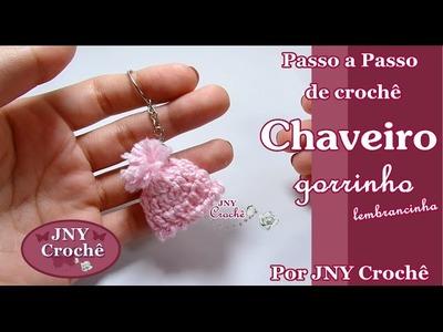 PAP Chaveiro Gorrinho mini de crochê por JNY Crochê