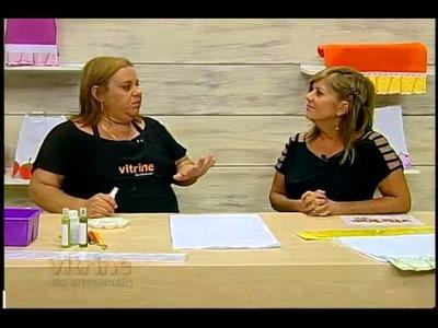 Pintura e barrado Laços da Vida com Lucia Luzzi - Vitrine do Artesanato na TV