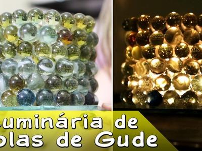 DIY Luminária de Bolas de Gude Artesanato Passo a Passo