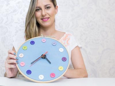 Faça Você Mesma  um Relógio de Pano - Artesanato em Tecido