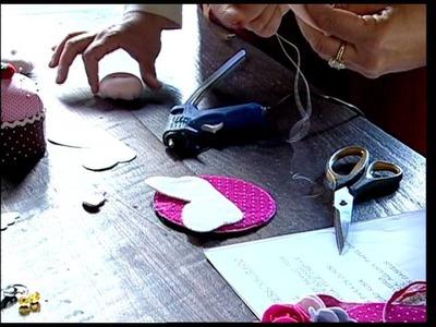 Manhã Viva: Artesanato - Anjinho em Feltro para porta 11.07.2014