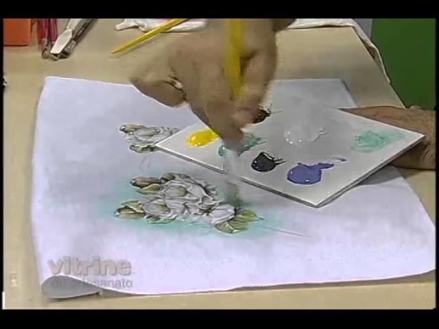 Pintura adesivada Rosas com Luis Moreira - Vitrine do artesanato na TV