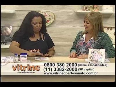Print Collage em azulejo com Rosana Cremasco - Vitrine do Artesanato na TV