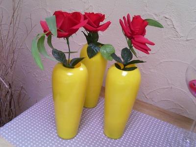 DIY- Faça vc mesma. Pintando vasos para decoraçao.