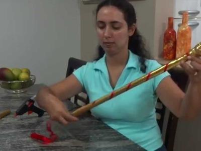 DIY - FAÇA VOCE MESMO:  CETRO DE REI - dica de artesanato do Compartilhando Arte