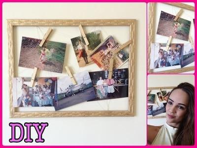 DIY: Mural de fotos. Recados com Moldura de Quadro.