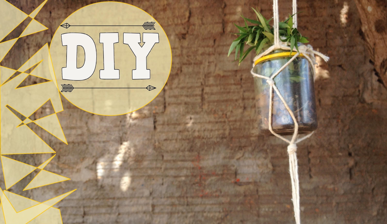 DIY: Redinha para segurar vasos de plantas