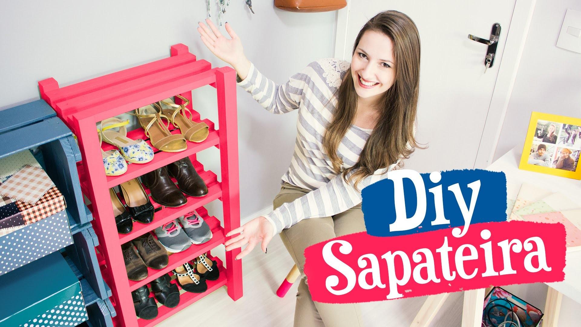 DIY - SAPATEIRA DE MADEIRA. Móveis do Meu Quarto PARTE 2