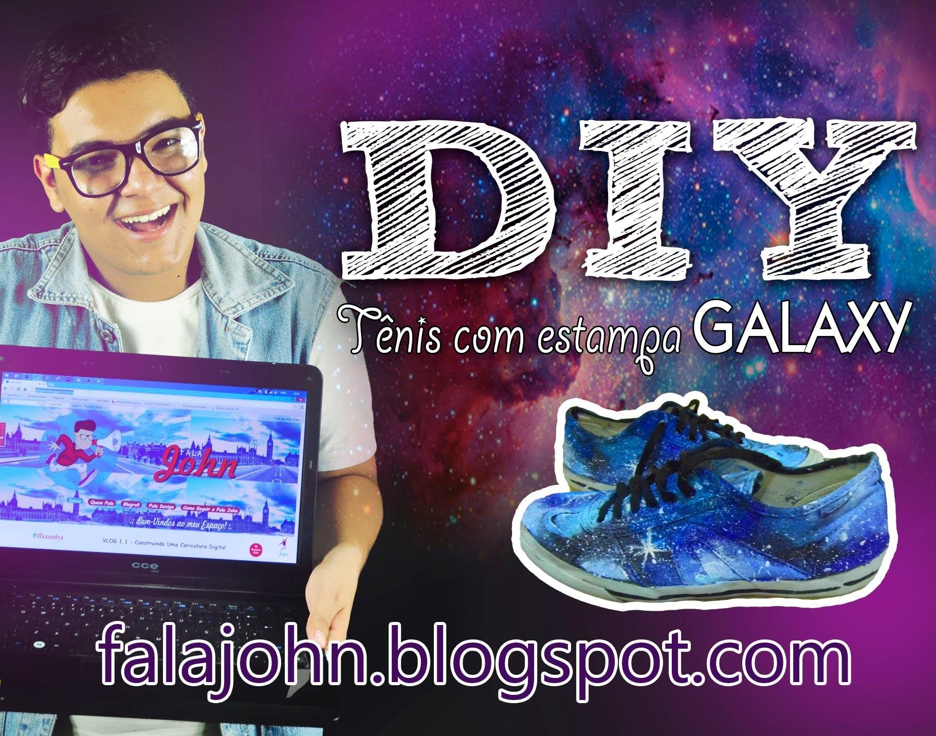 DIY (Faça Você Mesmo) - Tênis com estampa Galaxy, BLOG Fala John
