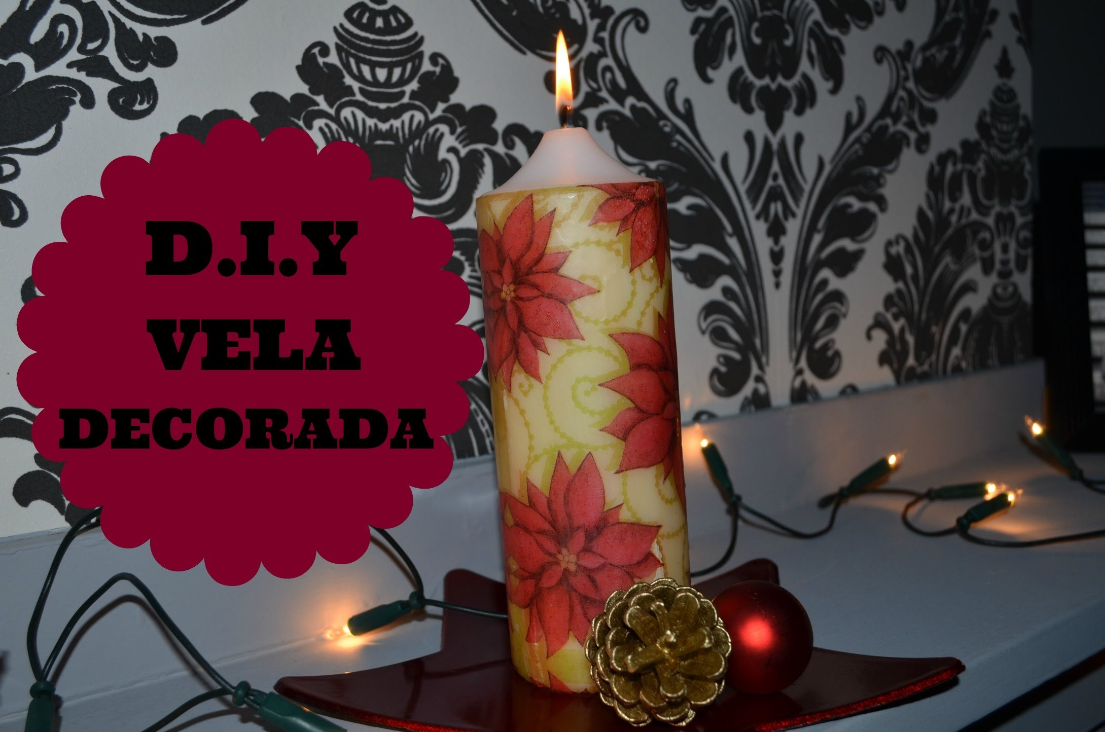 DIY Vela Decorada