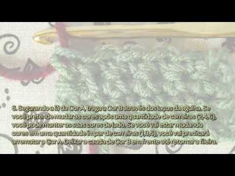 Mude as Cores em Ponto Baixo do Crochê - Faça Você Mesmo Artesanato - Guidecentral