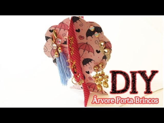 DIY: Árvore Porta Brincos | Decor | Dica de Presente | Organize seus brincos