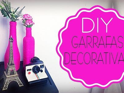 ✄ DIY - Garrafas decorativas | Iryane Carollyne