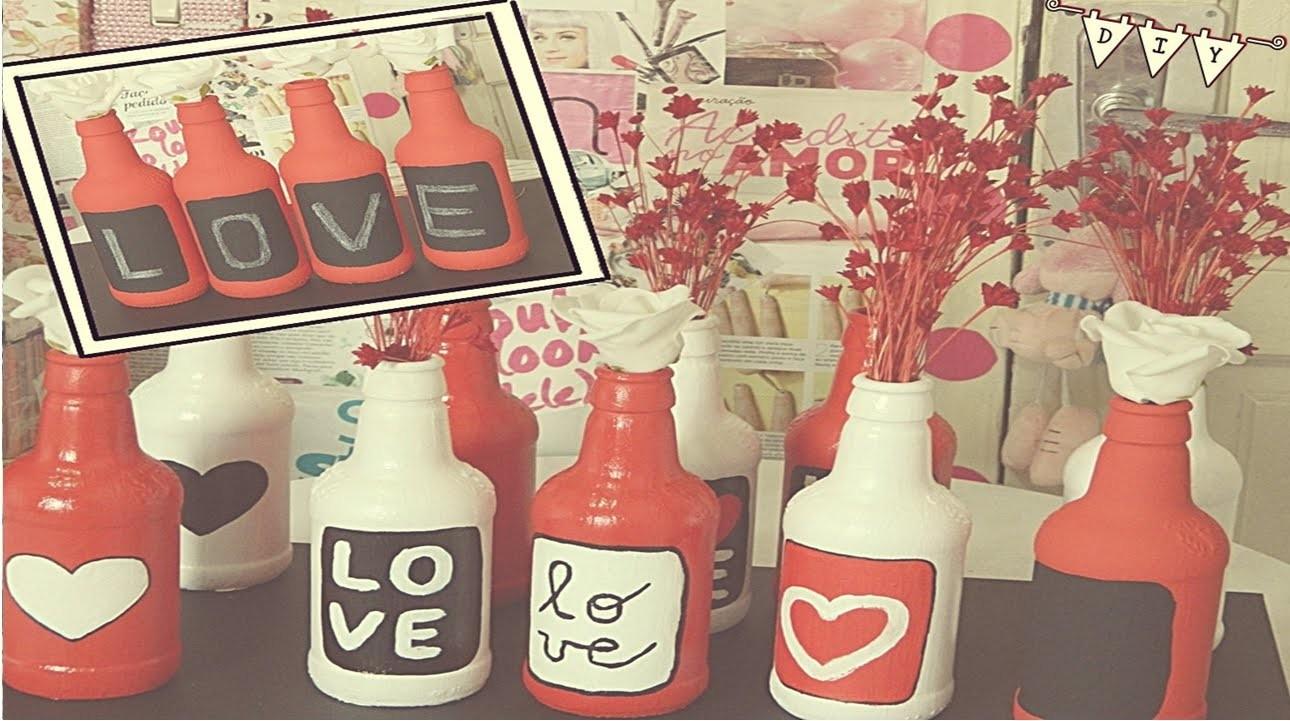 DIY| garrafinhas decoradas ♥